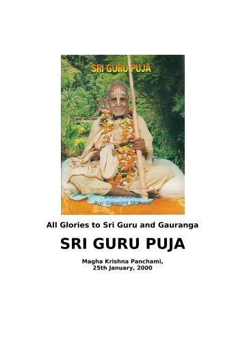 Sri Guru Puja 2000.pdf - Srila Bhakti Vaibhava Puri Maharaja