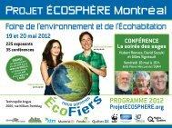 Programme de l'événement, édition Montréal 2012 - Projet ...