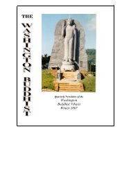 Washington Buddhist Vihara Winter 2007