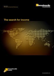 The search for income - Threadneedle Investments