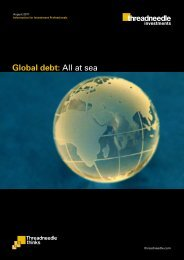 Global debt: All at sea - Threadneedle - Investments