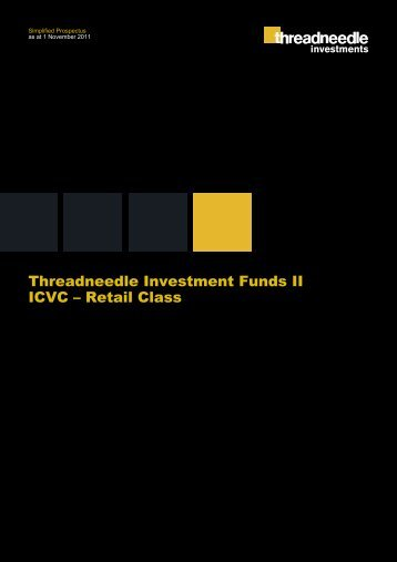 Threadneedle Investment Funds II ICVC – Retail Class Simplified ...