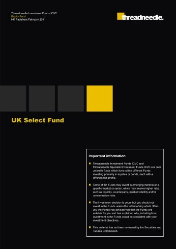 UK Select Fund - Threadneedle - Investments