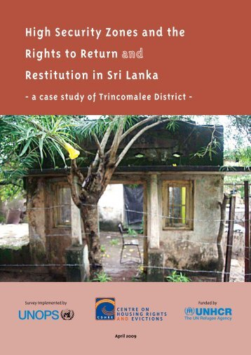 High Security Zones and the Rights to Return Restitution in Sri Lanka