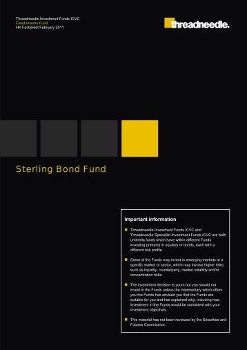 Sterling Bond Fund - Threadneedle - Investments