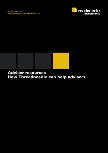 Adviser resources How Threadneedle can help advisers ...