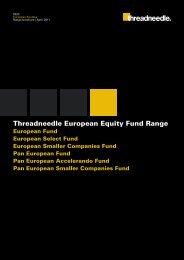 European Equity Fund Range Brochure - Threadneedle Investments
