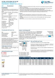 Retail Fund Factsheet - Threadneedle - Investments