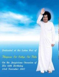 Bhagavan Sri Sathya Sai Baba - Sri Sathya Sai Books & Publication ...