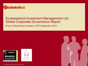 Quarterly voting report - Q3 2012 - Ecclesiastical Insurance