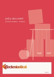 policy document - Ecclesiastical Insurance