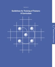 Guidelines for Training of Trainers - Family Health International