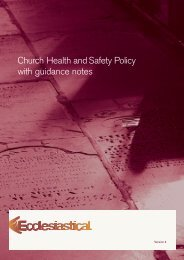 Church Health & Safety Policy with guidance notes - Ecclesiastical ...