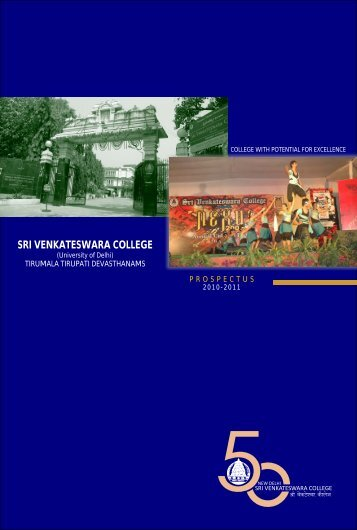 Prospectus Part 1 - Sri Venkateswara College