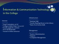 Information & Communication Technology in the College : Present ...