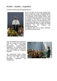 Feierliche Einweihung Schulanlage Neuheim - Schule-Eschenbach