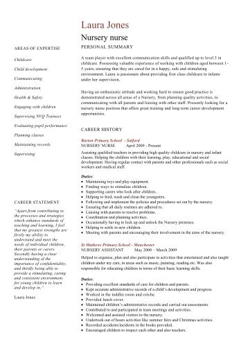 example resume nursing student graduate sample assistant hospital nursery nurse template word