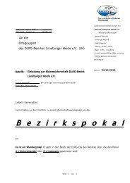 Ausschreibung Wanderpokal - Bezirk Lüneburger-Heide eV - DLRG