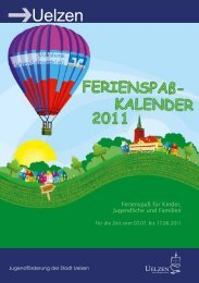 Ferienspaß Kalender 2011 - Uelzen
