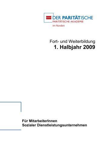 1. Halbjahr 2009 - Paritätischer Wohlfahrtsverband - Landesverband ...