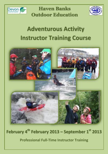 Adventurous Activity Instructor Training Course - Haven Banks