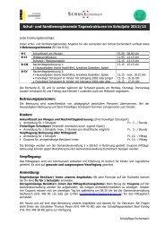 Anmeldung für Tagesstrukturen im Schuljahr 2012/13 - Schule ...