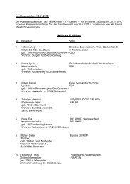 Amtliche Bekanntmachung zur Landtagswahl am 20.01.2013 - Uelzen