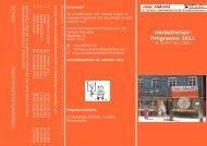 Herbstferien- Programm 2011 - Schule der Phantasie Fürth