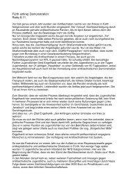 Fürth antirep Demonstration Rede 8.11. - Antifaschistische Linke ...