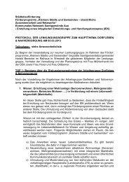 Protokoll Lenkungsgruppe Dorfleben am 05.03.2013