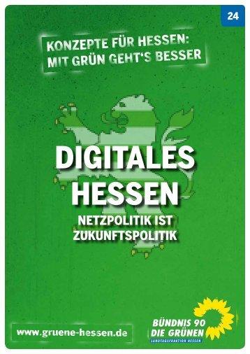 Digitales Hessen - Netzpolitik ist Zukunftspolitik - Bündnis 90/Die ...