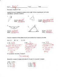 In-Class Chapter 4 Practice Test Answers