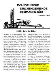 Gemeindebrief Februar 2003 - Kirchengemeinde Heumaden-Süd