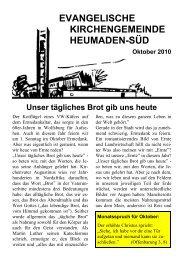 Word Pro - 2010-10Text.lwp - Kirchengemeinde Heumaden-Süd