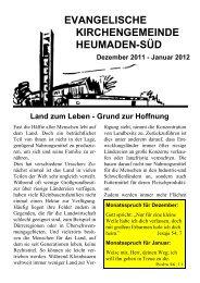 Gemeindebrief Dezember 2011 / Januar 2012 - Kirchengemeinde ...
