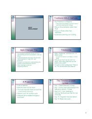 Traditional SDLC methods: Agile Changes This ... - Niedermayer.ca