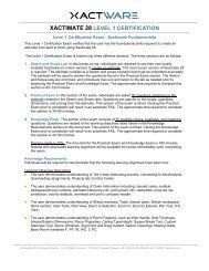 XACTIMATE 28 LEVEL 3 CERTIFICATION - Xactware