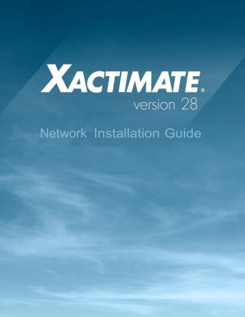 Network Installation Guide - Xactware