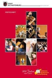 FESTSCHRIFT - Städtische Musikschule Aschaffenburg