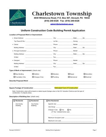 Building Permit Application Form - Sturgeon County