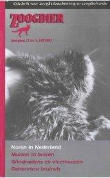 jaargang 12 (2) juli 200 I - Zoogdierwinkel