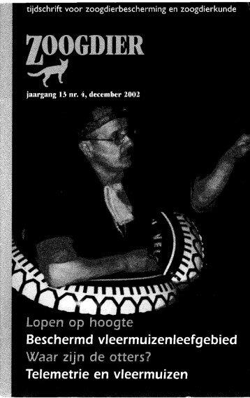 ZOOGDIER jaargang 13 (4) december 2002 - Zoogdierwinkel