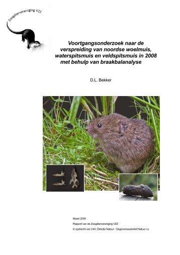 Voortgangsonderzoek naar de verspreiding van noordse woelmuis ...