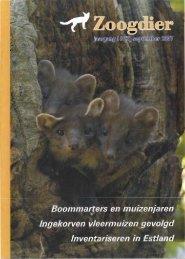 Inhoud Zoogdier 18(3) september 2007 - Zoogdierwinkel