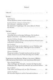 Baptistische Identität und nationale Kultur - Gesellschaft für ...
