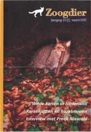 Inhoud Zoogdier 18(1) maart 2007 - Nieuw in - Zoogdierwinkel