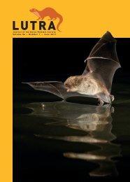 Volume 54 – Number 1 – June 2011 - Zoogdierwinkel