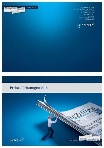 Preise / Leistungen 2013 - Neue Luzerner Zeitung