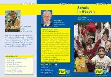 Schule in Hessen - Junge Liberale Hessen