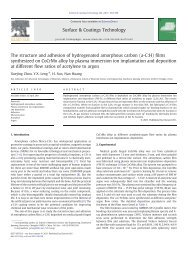 The structure and adhesion of hydrogenated amorphous carbon ...